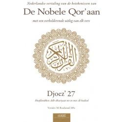 De Nobele Qor'aan - Djoez' 27